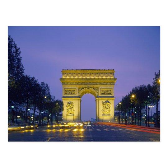 Arc de Triomphe, Paris, France, Postcard