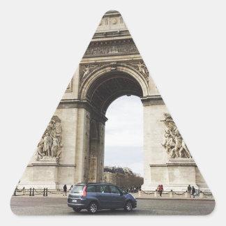 Arc de Triomphe, Paris Triangle Sticker