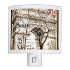 Arc de Triomphe Sepia Vintage Postcard Nightlight Nite Lite