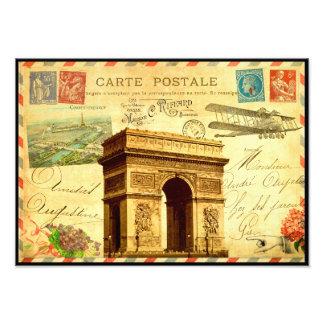 Arc de Triomphe travel to France vintage postcard Art Photo