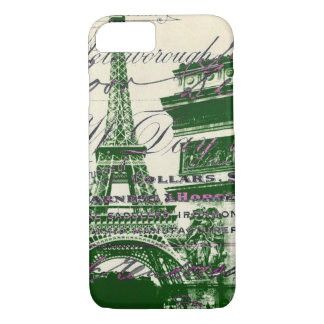 arc de triomphe vintage paris eiffel tower iPhone 8/7 case