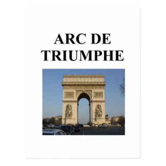 arc de triumphe paris france postcard