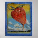Arc-en-ciel de fraise affiche