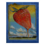 Arc-en-ciel de fraise poster