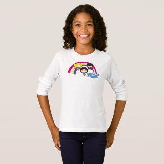 Arc-en-ciel de ligue de justice de Chibi T-shirt