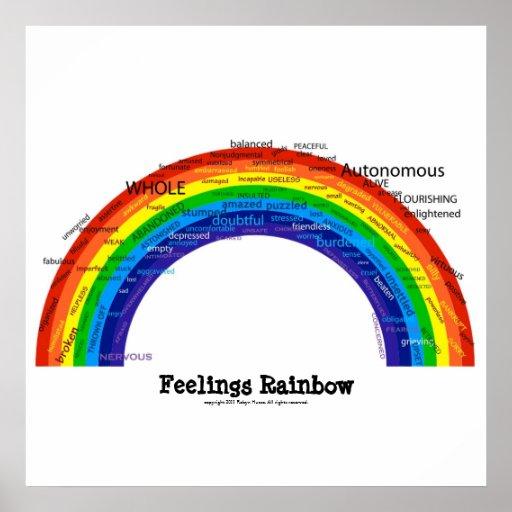 Arc-en-ciel de sentiments posters