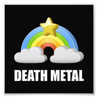 Arc-en-ciel en métal de la mort photo sur toile