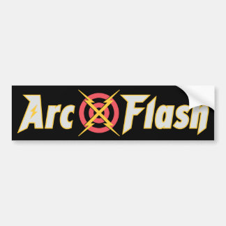 Arc Flash Black Bumper Sticker