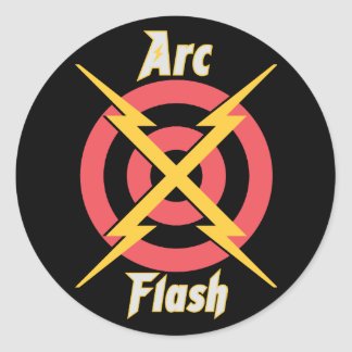 Arc Flash Round Sticker