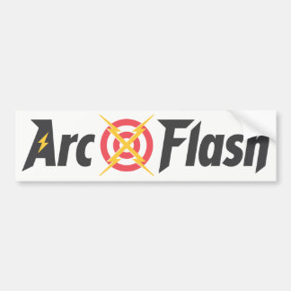 Arc Flash White Bumper Sticker
