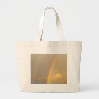 Arc in sky large tote bag