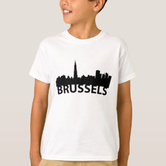 Arc Skyline Of Brussels Belgium T-Shirt