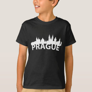 Arc Skyline Of Prague Czech Republic T-Shirt