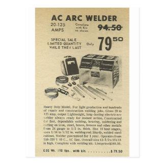 arc welder ad postcard