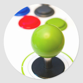 Arcade Joystick Classic Round Sticker