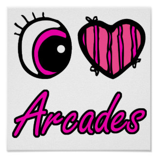 Arcades d'amour du coeur I d'oeil d'Emo Poster