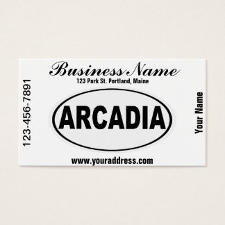 Arcadia California Business Card