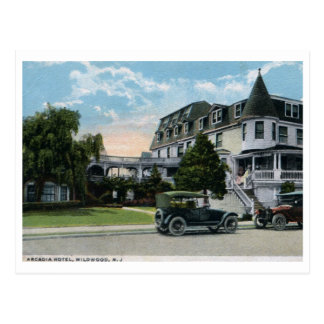 Arcadia Hotel, Wildwood, New Jersey 1924 Vintage Postcard