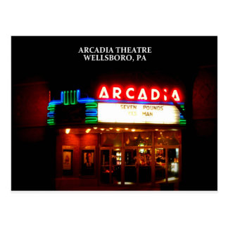 ARCADIA THEATER - WELLSBORO, PENNSYLVANIA POSTCARD