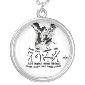 arcangelo-erzengel-archangel-michael-michele-scult silver plated necklace