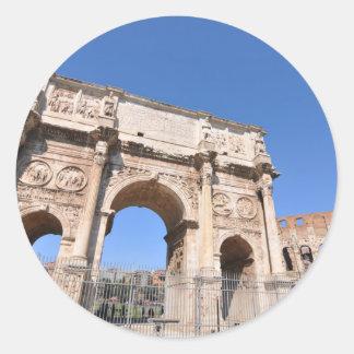 Arch in Rome, Italy Classic Round Sticker