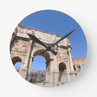 Arch in Rome, Italy Round Clock