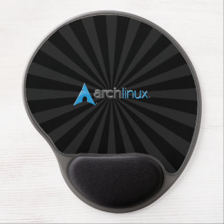 Arch Linux Black StarBurst Gel Mouse Pad