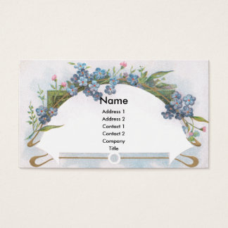 Arch of Blue Forget-Me-Nots Business Card