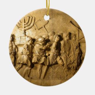 Arch of Titus Round Ceramic Ornament