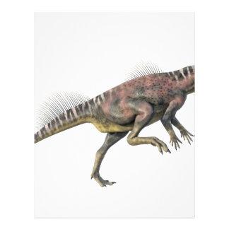 Archaeoceratops Dinosaur in Side Profile Letterhead