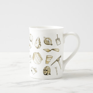 Archaeological Fragments Bone China Mug