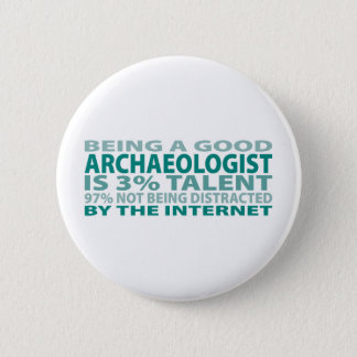 Archaeologist 3% Talent 2 Inch Round Button