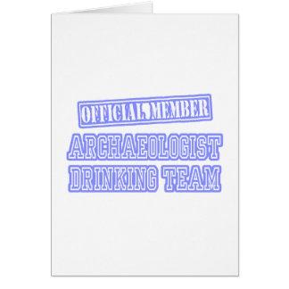Archaeologist Drinking Team Card