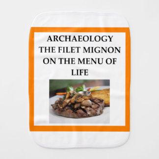 ARCHAEOLOGY BURP CLOTH