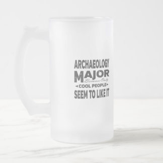 Archaeology College Major Cool People Frosted Glass Beer Mug