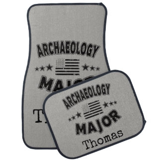 Archaeology College Major Patriotic American Flag Car Mat