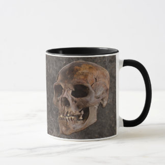 Archaeology II - Skull on Stone-effect Background Mug