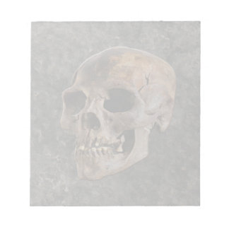 Archaeology II - Skull on Stone-effect Background Notepad