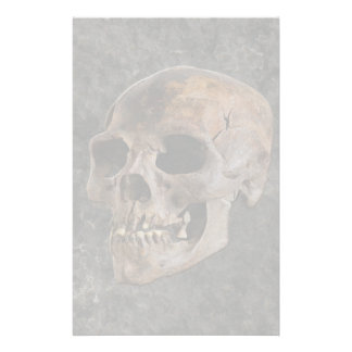 Archaeology II - Skull on Stone-effect Background Stationery