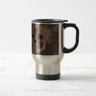 Archaeology II - Skull on Stone-effect Background Travel Mug