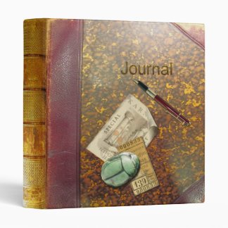 Archaeology Journal Aged Leather Vinyl Binder