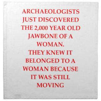ARCHAEOLOGY NAPKIN