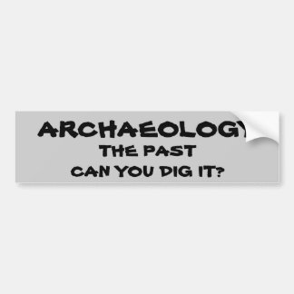 Archaeology Pun. The Past Can You Dig It? Bumper Sticker