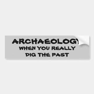 Archaeology Pun. When You Dig the Past Bumper Sticker
