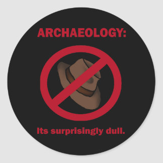 Archaeology, sticker