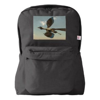 Archaeopteryx birds dinosaurs flying - 3D render Backpack