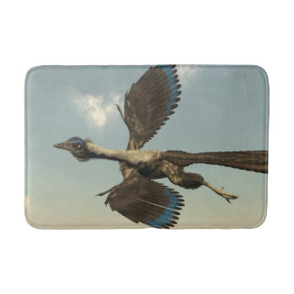 Archaeopteryx birds dinosaurs flying - 3D render Bath Mat