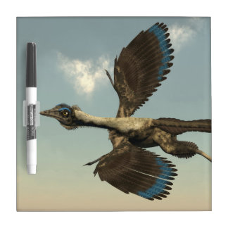 Archaeopteryx birds dinosaurs flying - 3D render Dry Erase Board