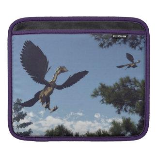 Archaeopteryx birds dinosaurs flying - 3D render iPad Sleeve