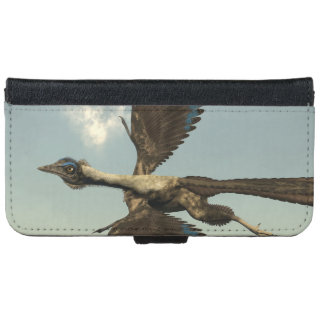 Archaeopteryx birds dinosaurs flying - 3D render iPhone 6 Wallet Case